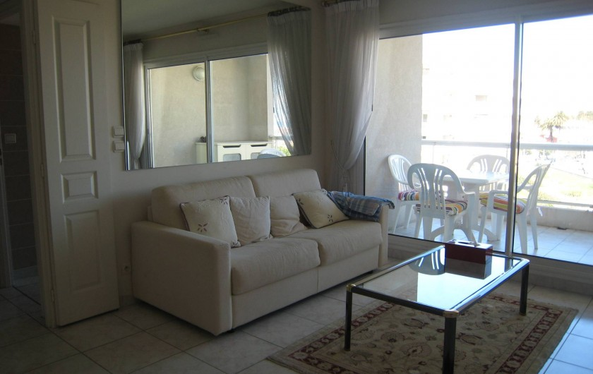 Location de vacances - Appartement à Antibes - salon