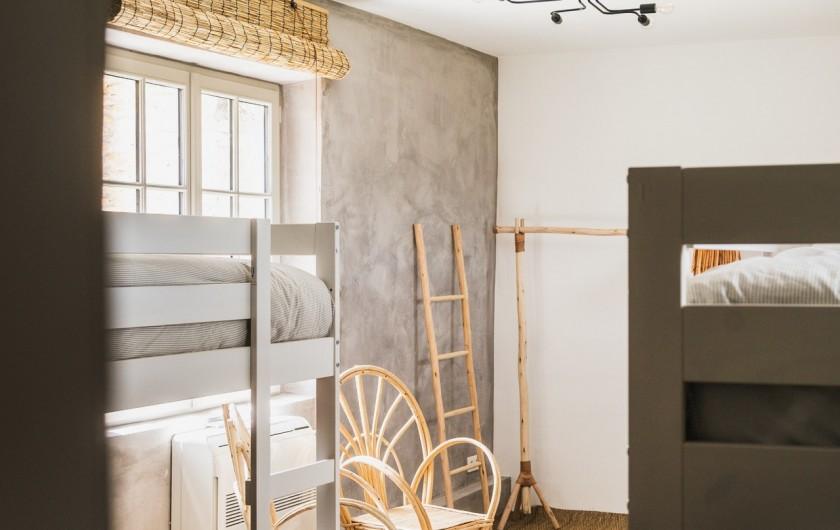 Location de vacances - Mas à Potelières - Dortoir 3 lits superposés = 6 lits