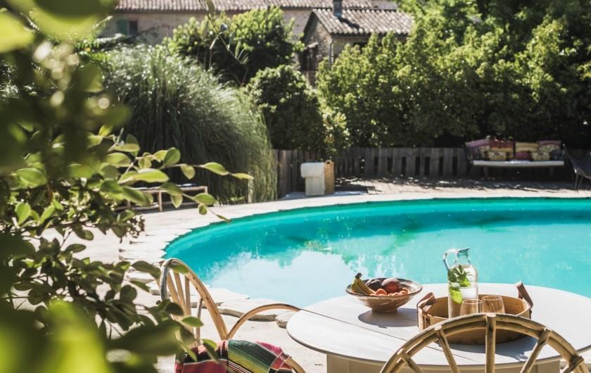 Location de vacances - Mas à Potelières - La piscine