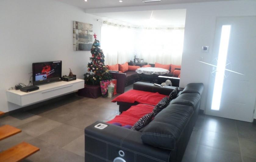 Location de vacances - Villa à Sauvian - Salon Séjour TV