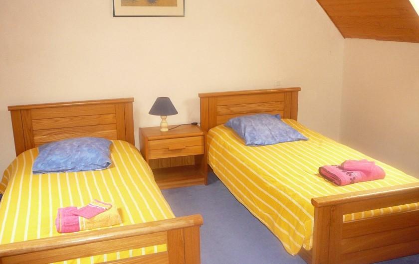 Location de vacances - Maison - Villa à Kermeurzac'h - Seconde chambre avec lits jumeaux