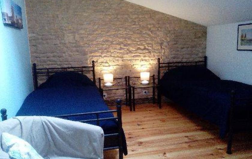 Location de vacances - Gîte à Haimps - chambre 1 avec lits simples 90*200