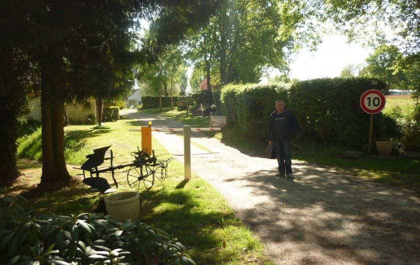 Location de vacances - Camping à Mézières-sous-Lavardin - L'entrée du camping
