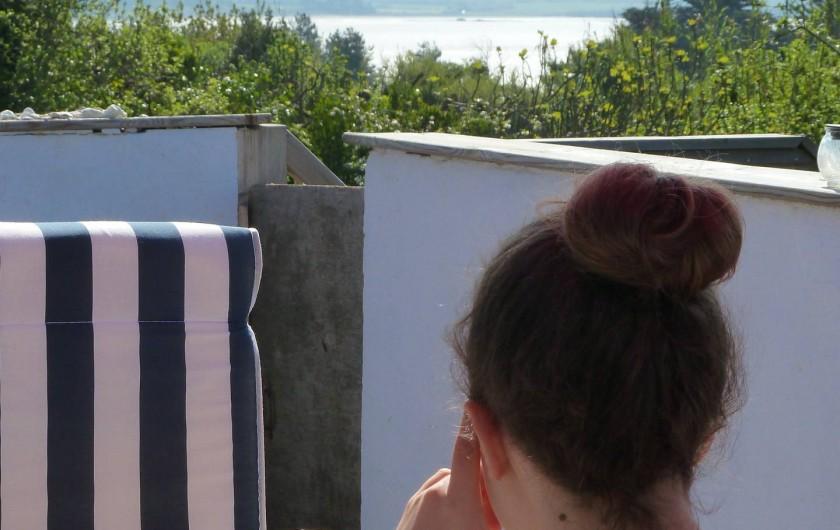 Location de vacances - Appartement à Pénestin - la vue sur la baie du Palendrin de la terrasse