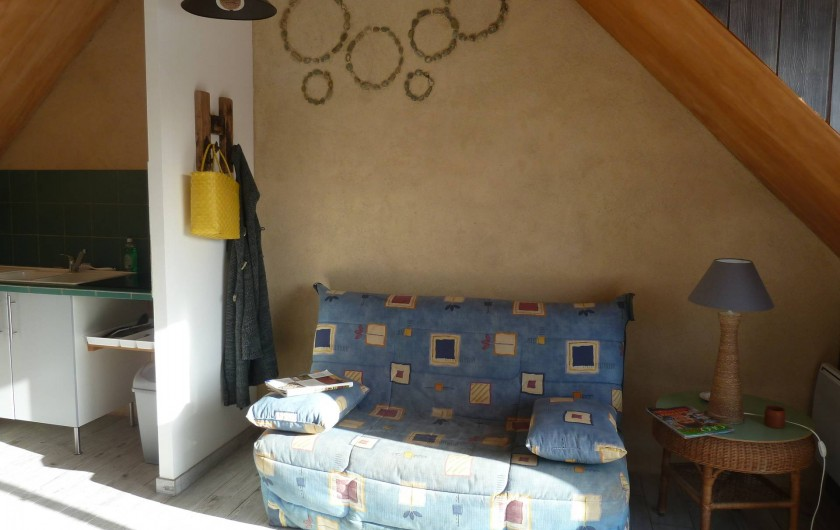 Location de vacances - Appartement à Pénestin - le coin salon, avec clic-clac