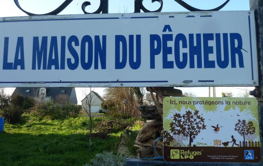 Location de vacances - Appartement à Pénestin - l'enseigne pour se repérer facilement, la maison du pêcheur