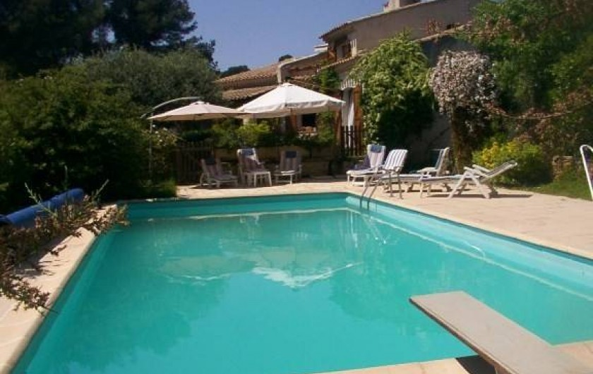Location de vacances - Mas à La Ciotat - Piscine (11x5)