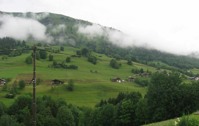Location de vacances - Chalet à Hauteluce - Vue depuis le studio