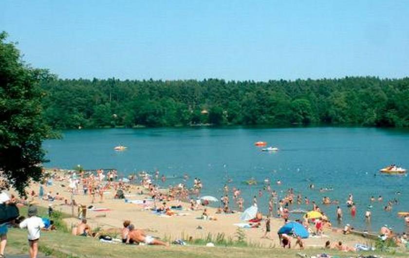 Location de vacances - Bungalow - Mobilhome à Aydat - La plage du lac