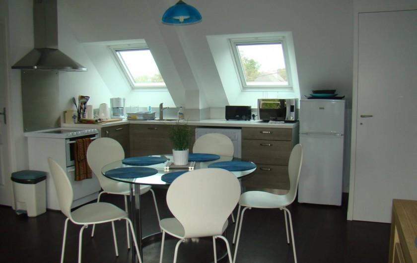 Location de vacances - Appartement à Vannes - Coin salle à manger vu du salon