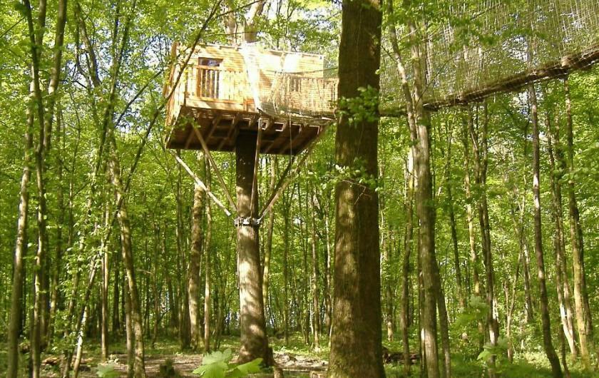 Location de vacances - Cabane dans les arbres à Signy-l'Abbaye - La Sous-bois, en plein forêt  perchée à 8 mètres