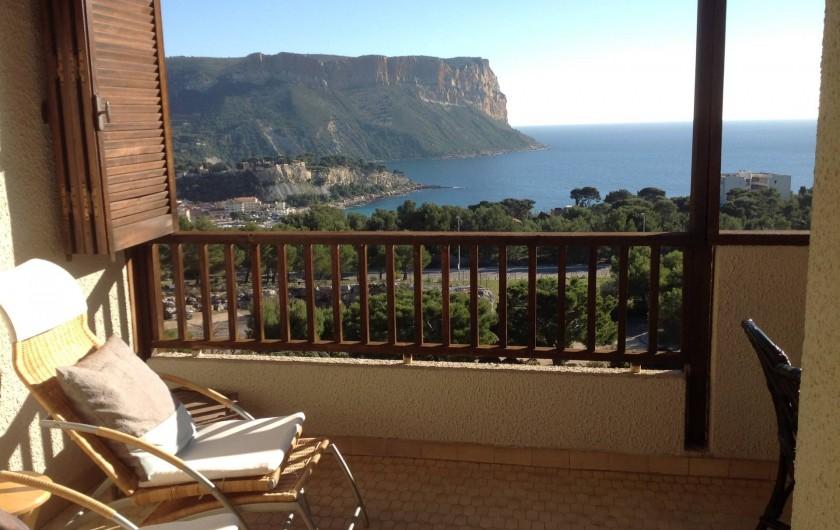 Location de vacances - Appartement à Cassis - Une partie du balcon