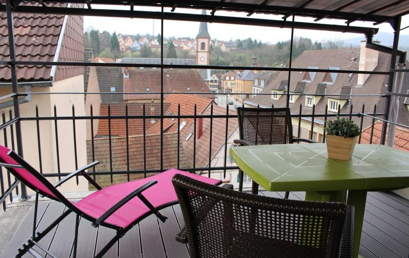Location de vacances - Appartement à Niederbronn-les-Bains - Vue depuis la terrasse