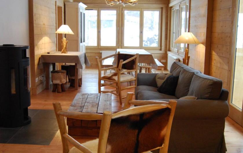 Location de vacances - Chalet à Morzine - Appartement 16 pers. Séjour