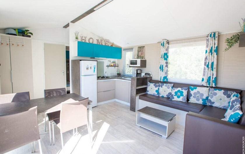 Location de vacances - Chambre d'hôtes à Saint-Méloir-des-Ondes - Mobil-home 6 à 8 personnes