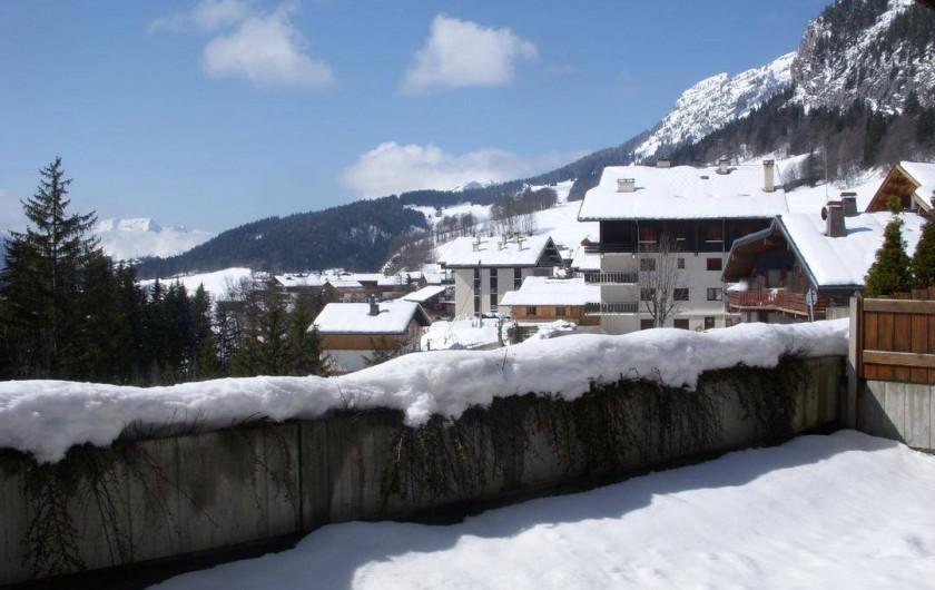 Location de vacances - Appartement à Chinaillon - Vue de la terrasse