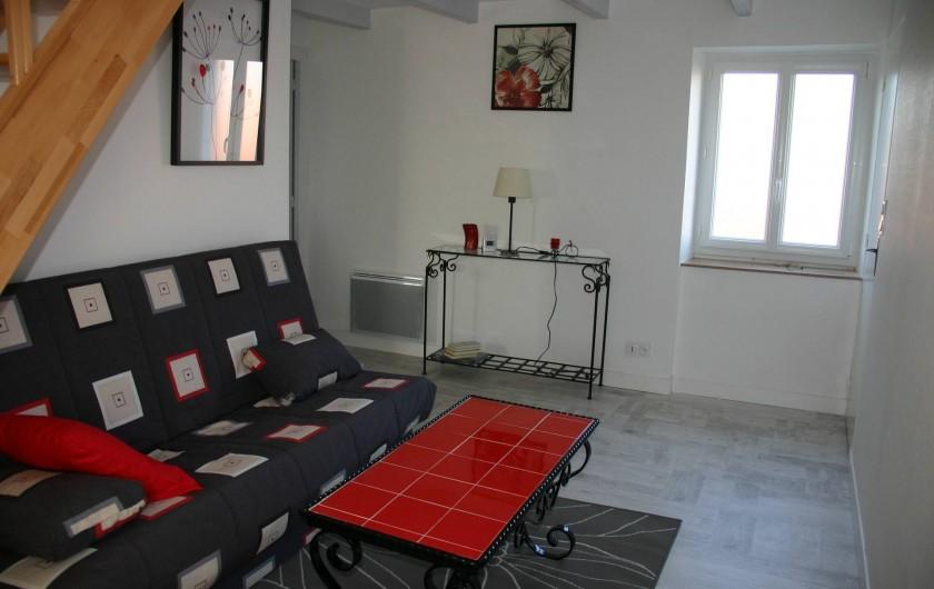 Location de vacances - Gîte à Lanildut - Coin salon télé , premier étage