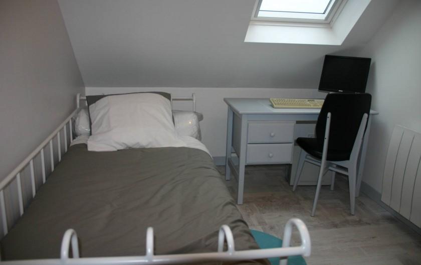 Location de vacances - Gîte à Lanildut - lit  1 personne au deuxième étage
