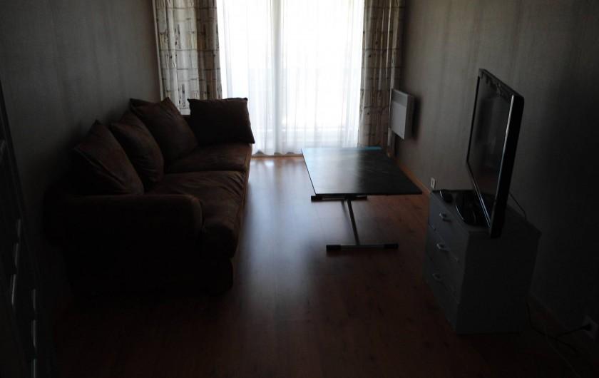 Location de vacances - Appartement à Le Touquet-Paris-Plage - salon ouvert sur le balcon