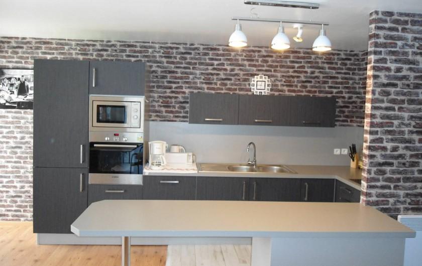 Location de vacances - Appartement à Le Touquet-Paris-Plage - cuisine ouverte et équipée