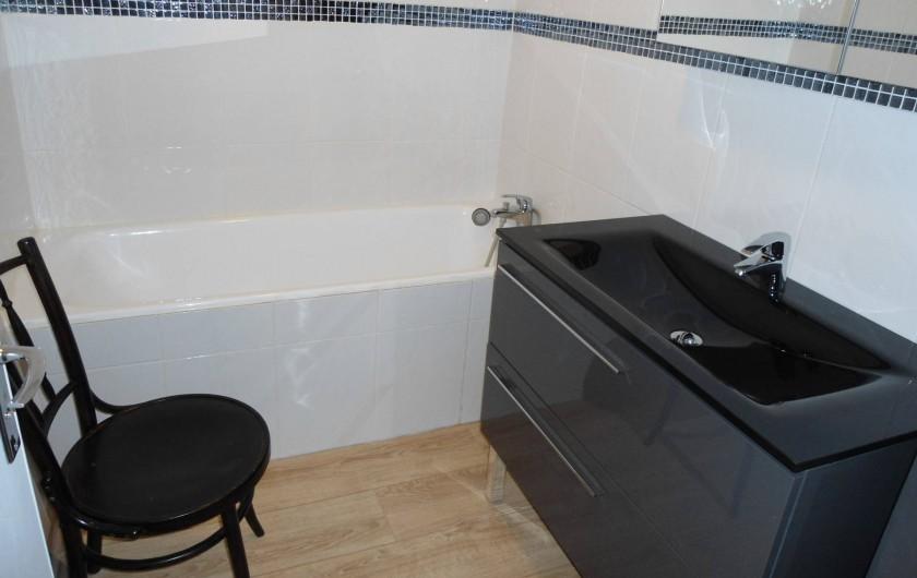 Location de vacances - Appartement à Le Touquet-Paris-Plage - deuxième salle de bain avec baignoire