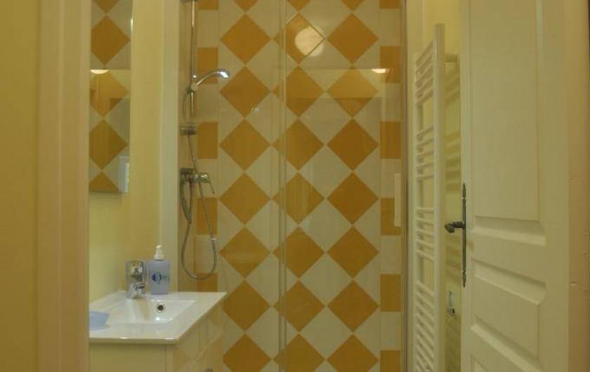 Location de vacances - Gîte à Saint-Julien - Une salle d'eau du gîte du Château du Jonchy à St Julien dans le Rhône France