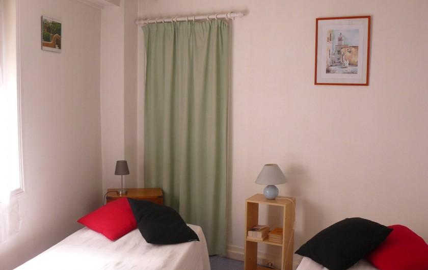 Location de vacances - Appartement à Le Tréport - Chambre des deux lits