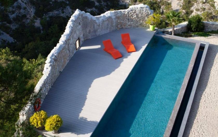 Location de vacances - Chambre d'hôtes à Méthamis - Vue spectaculaire sur les gorges de la Nesque