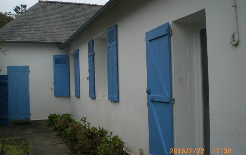 Location de vacances - Villa à Carnac - Façade Nord.