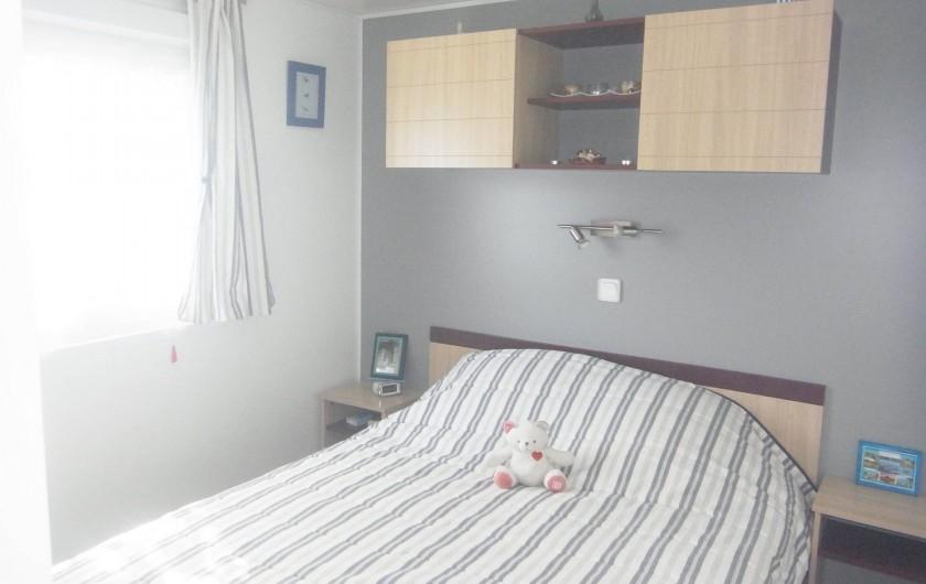 Location de vacances - Bungalow - Mobilhome à Plouhinec - Chambre 1 mobilehome