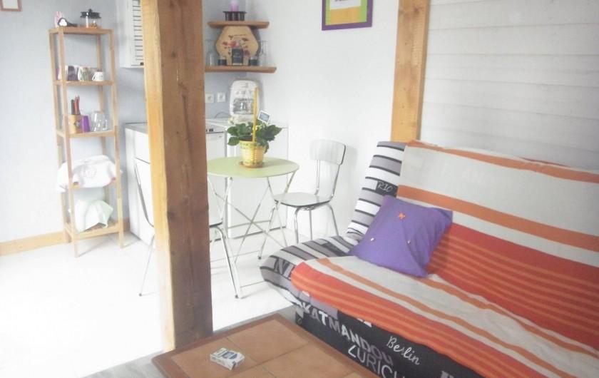 Location de vacances - Bungalow - Mobilhome à Plouhinec - Salon chalet