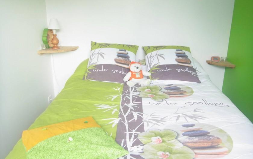 Location de vacances - Bungalow - Mobilhome à Plouhinec - Chambre chalet