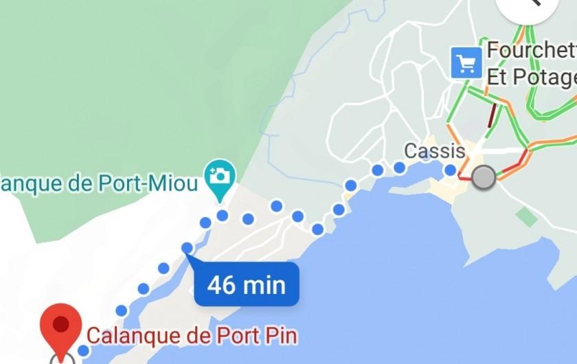Location de vacances - Appartement à Cassis - Calanque de Port Pin