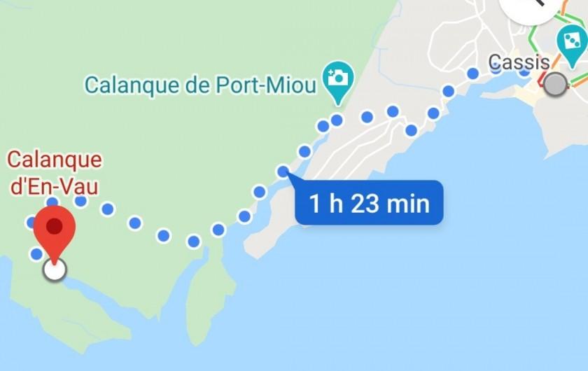 Location de vacances - Appartement à Cassis - Calanque d'En-Vau