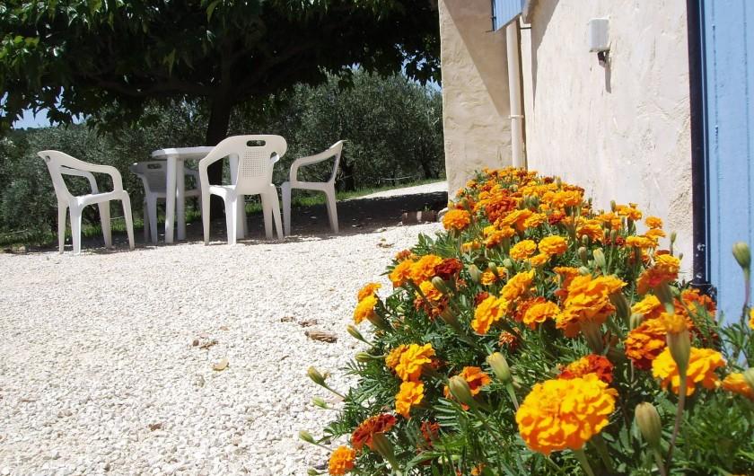 Location de vacances - Gîte à Vinsobres - Jardin privé gîte Meynard