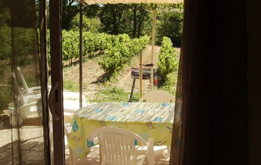 Location de vacances - Gîte à Vinsobres - Gîte Lorie - Terrasse et jardin privés