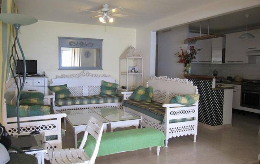 Location de vacances - Appartement à Le Gosier - Appartement F3 rez de jardin/mer Séjour