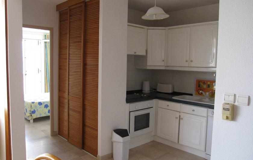 Location de vacances - Appartement à Le Gosier - Appartement F3 Etage cuisine americaine