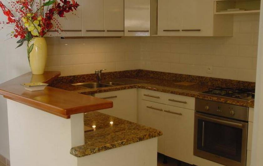 Location de vacances - Appartement à Le Gosier - Appartement F3 Cuisine américaine