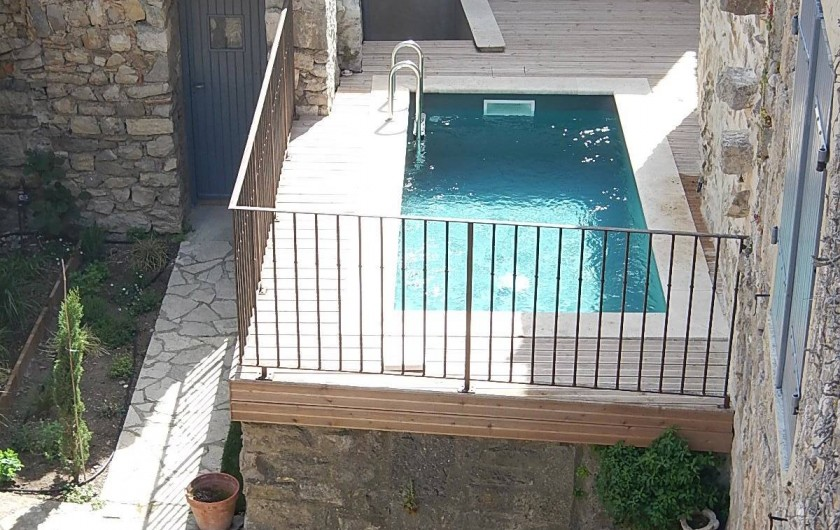 Location de vacances - Gîte à Lagrasse - Piscine de rafraichissement.