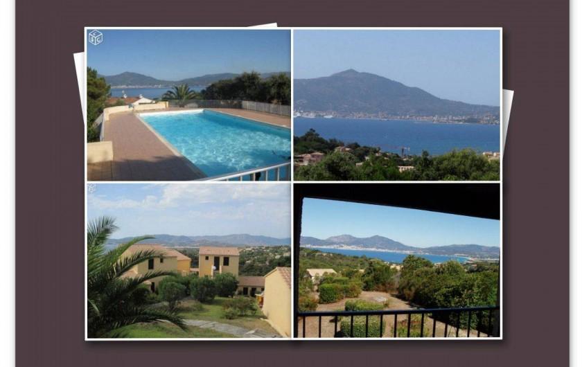Location de vacances - Appartement à Porticcio - Vue piscine vues terrasses vue arrière