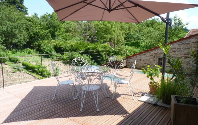 Location de vacances - Chambre d'hôtes à Bertrambois - Terrasse des chambres d'hôtes