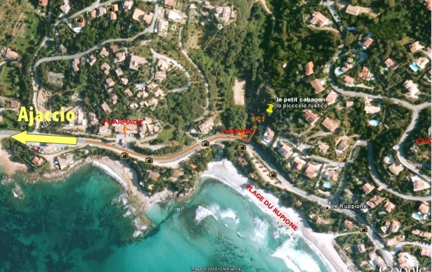 Location de vacances - Maison - Villa à Pietrosella - Localisation du cabanon.