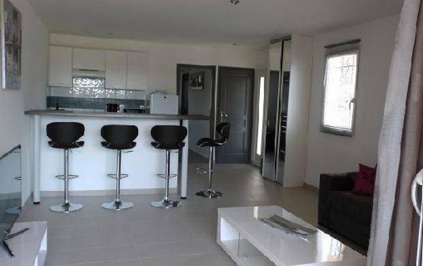 Location de vacances - Appartement à Porto-Vecchio - Pièce à vivre...
