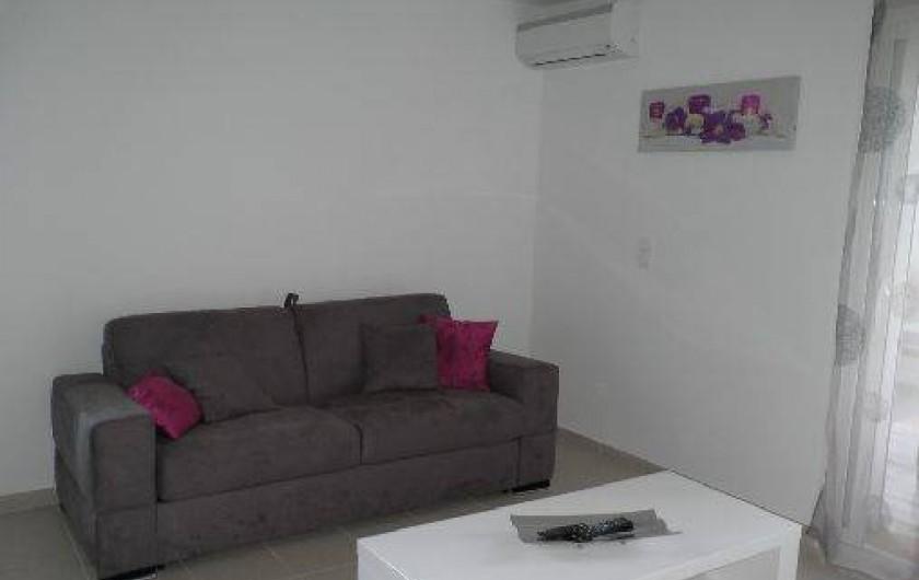 Location de vacances - Appartement à Porto-Vecchio - Coin salon, canapé lit...