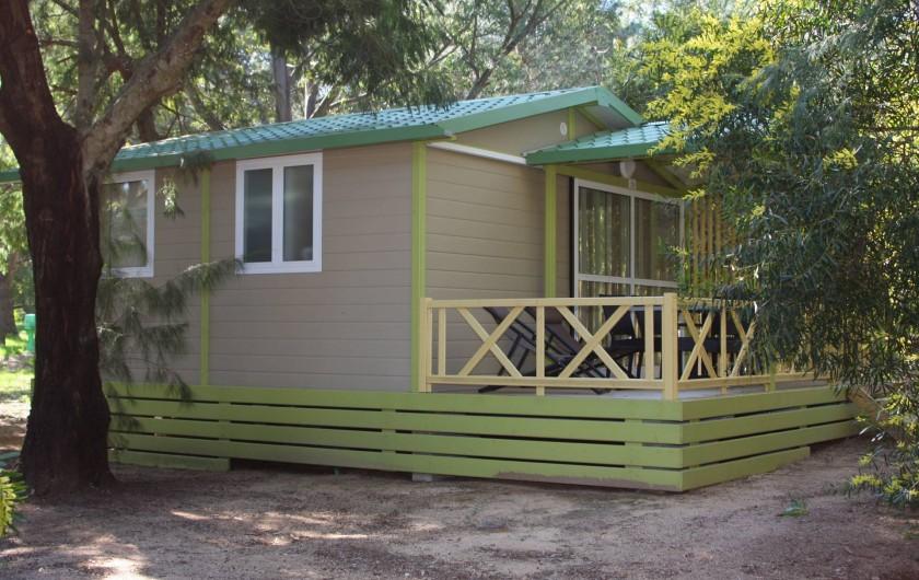 Location de vacances - Bungalow - Mobilhome à Calvi - extérieur bungalows Moréa