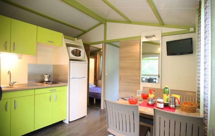 Location de vacances - Bungalow - Mobilhome à Calvi - intérieur bungalows Moréa