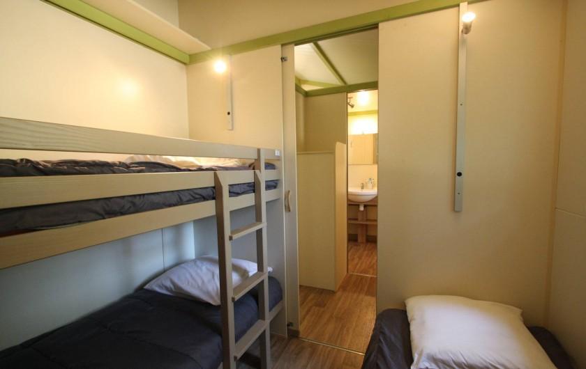 Location de vacances - Bungalow - Mobilhome à Calvi - chambre enfant  3 lits  90cm
