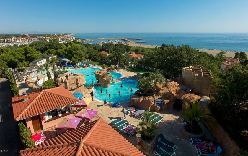 Location de vacances - Camping à Argelès-sur-Mer - Parc Aquatique chauffé