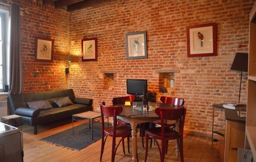Location de vacances - Gîte à Marle - Gîtes du Pigeonnier au 1er étage salon salle à manger